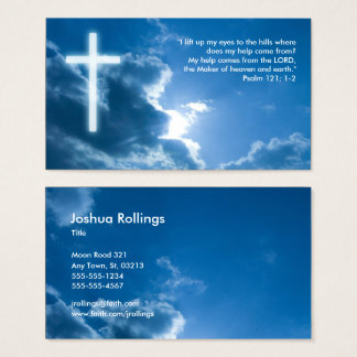 Psalm 121; 1-2 | Blue Christian Business Card