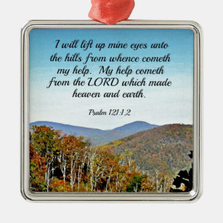 Psalm 121:1,2 I will lift up mine eyes unto the... Christmas Ornament