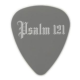 Psalm 121 Black (.80mm) Polycarbonate Guitar Pick