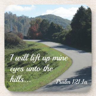 Psalm 121 I will lift up mine eyes unto the hills Coasters