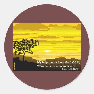 Psalm 121 My Help Round Sticker