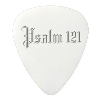 Psalm 121 White (.80mm) Polycarbonate Guitar Pick