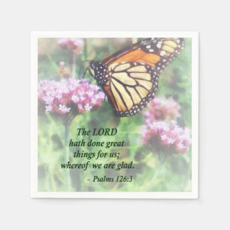 Psalm 126 3 The LORD hath done great things Disposable Napkin