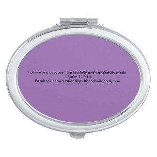 Psalm 139:14 Mirrors Travel Mirror