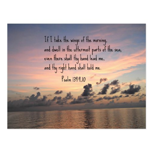 Psalm 139: 9,10 postcard
