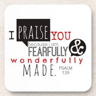 Psalm 139 - I Praise You Coaster
