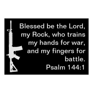 Psalm 144 1 AR Poster