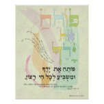 """Psalm 145:15 """"You Open Your Hand"""" Poster"""