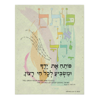 "Psalm 145:15 ""You Open Your Hand"" Poster"