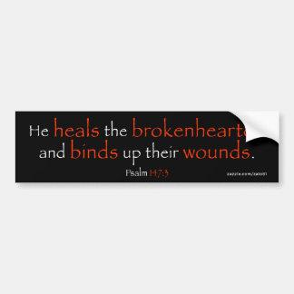 Psalm 147:3 bumper sticker