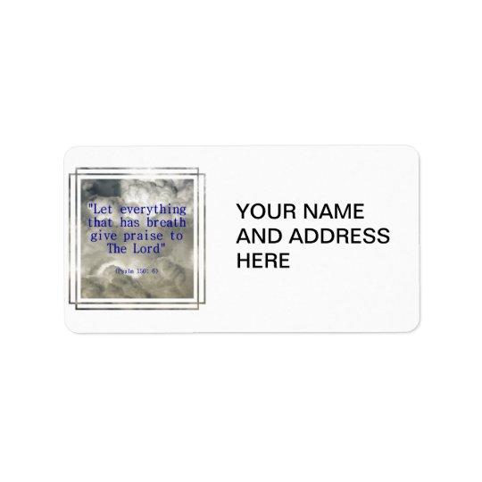 Psalm 150: 6 address label