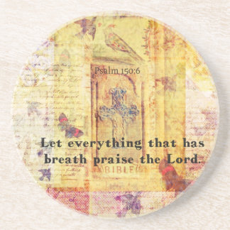Psalm 150:6 Let everything that has breath praise Coasters