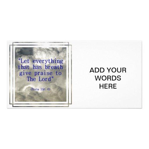 Psalm 150: 6 personalized photo card