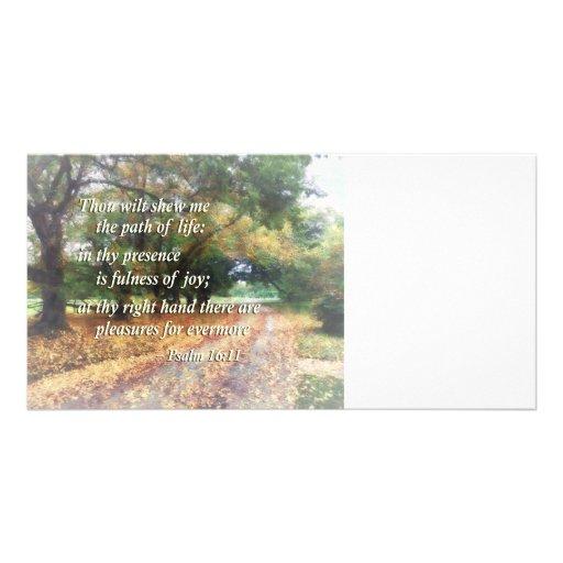 Psalm 16:11 Thou wilt shew me the path Customized Photo Card
