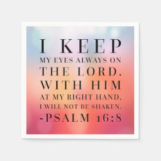 Psalm 16:8 Bible Quote Disposable Napkins
