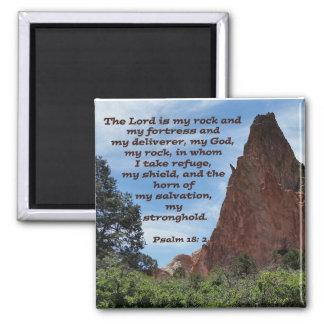 Psalm 18: 2 square magnet