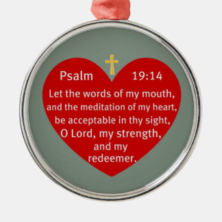 Psalm 19:14 christmas ornament
