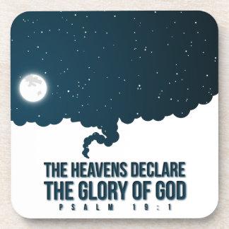 Psalm 19:1 Heavens Declare God's Glory Beverage Coasters