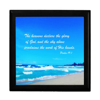 Psalm 19:1 large square gift box
