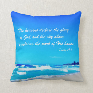 Psalm 19:1 throw pillow