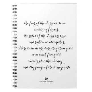 Psalm 19 Spiral notebook