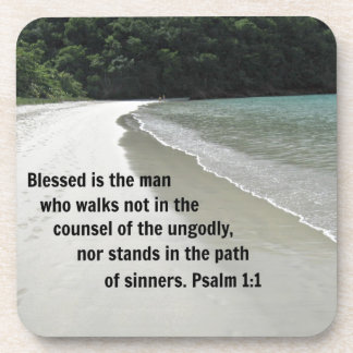 Psalm 1:1 Blessed is the man... Drink Coasters