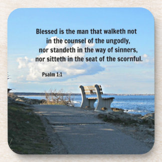 Psalm 1:1 Blessed is the man that walketh not... Coasters