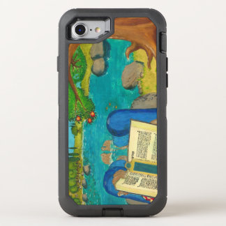Psalm 1 in Hebrew Bible Jewish Christian Paintings OtterBox Defender iPhone 8/7 Case