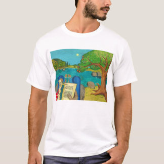 Psalm 1 in Hebrew Bible Jewish Christian Paintings T-Shirt