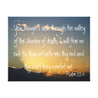 Psalm 23:4 bible verse canvas print