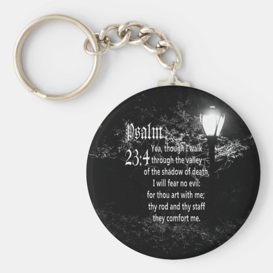 Psalm 23:4 Bible Verse Custom Christian Gift Key