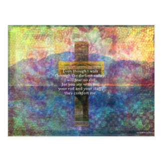 Psalm 23:4 - Even though I walk through... Postcard
