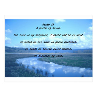 Psalm 23 A psalm of David.T Postcard