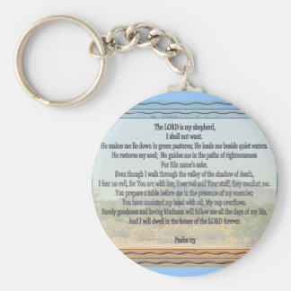 Psalm 23 basic round button key ring