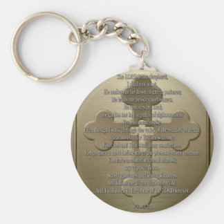 Psalm 23 - Bronze Key Ring