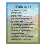 Psalm 23 Framable POSTER PRINT
