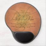 Psalm 23 KJV Christian Bible Verse Gel Mouse Pad