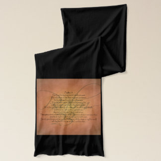 Psalm 23 KJV Christian Bible Verse Scarf