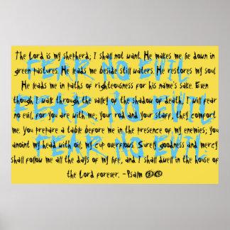 Psalm 23 Mega Verse Poster