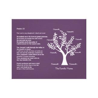Psalm 23 plus Family Tree Canvas Prints