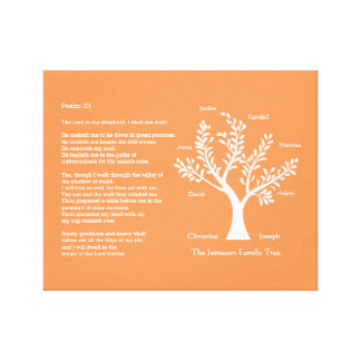 Psalm 23 plus Family Tree Gallery Wrapped Canvas