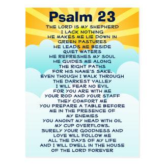 Psalm 23 postcard