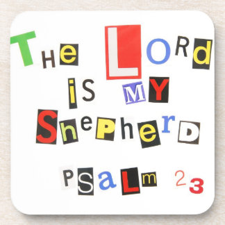 Psalm 23 Ransom Note Drink Coaster