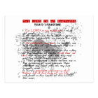 Psalm 23: Red, Black, White Grunge Style Postcard