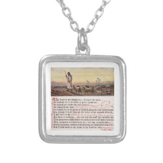 Psalm 23 SQ Silver Plated Necklace