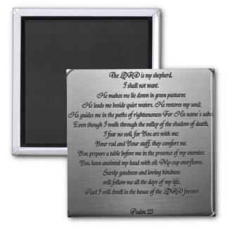 Psalm 23 - Steel Magnet