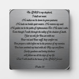 Psalm 23 - Steel Plaques
