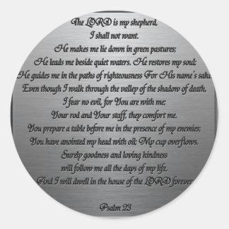 Psalm 23 - Steel Round Sticker