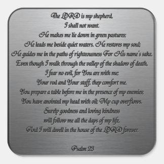 Psalm 23 - Steel Square Sticker