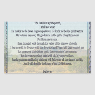 Psalm 23 rectangle sticker